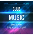 Club music Poster Template Night Dance Party vector image