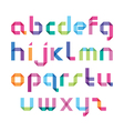 color alphabet with sharp corners vector image vector image