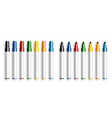 colorful marker pen opened and closed marker vector image vector image