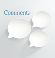 Comments vector image vector image