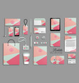 corporate identity template set and business vector image