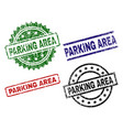 damaged textured parking area stamp seals vector image vector image