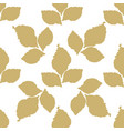 decorative leaf seamless pattern vector image vector image