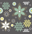 decorative pattern with stylish flowers vector image