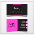 domain co uk icon business card template vector image vector image