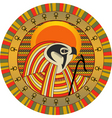 Egyptian god of sun ra vector image vector image