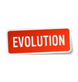 evolution square sticker on white vector image vector image