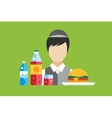 Fast food restaurant objects set vector image