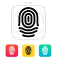 Fingerprint whorl type icon vector image vector image