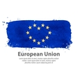 flag european union valentines day vector image vector image