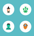 flat icons character fire snake and other vector image vector image