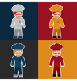 flat sticker of chef vector image