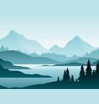 forest foggy landscape flat vector image vector image