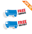 Free delivery logistic advertising transportation vector image vector image