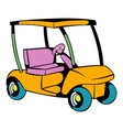 golf car icon icon cartoon vector image