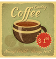 Grunge card with coffee cup vector | Price: 1 Credit (USD $1)