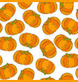 halloween pattern pumpkin icon background vector image vector image