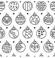 hand drawn seamless pattern with christmas balls vector image vector image