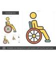 Handicap line icon
