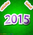 Happy new year 2015 icon sign Symbol chic colored vector image