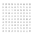 hundred basic icons vector image