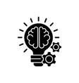 idea generation black glyph icon vector image