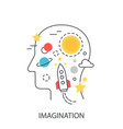 imagination idea modern concept vector image
