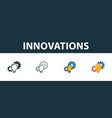 innovations icon set premium symbol in different vector image vector image