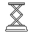 jack-screw stand icon outline style vector image vector image