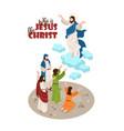 jesus christ isometric background vector image vector image