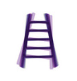 ladder sign colorful icon vector image