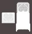 laser cut envelope template for invitation vector image vector image