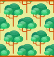 leaves green trees seamless pattern vector image vector image