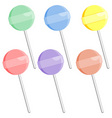 lollipop with different colors over white backgrou vector image vector image