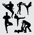 martial art extreme sport silhouette vector image vector image