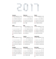 modern calendar 2017 on white vector image