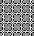 Monochrome ellipse repeat pattern vector image vector image