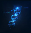 nenon dna helix consist of glowing particles vector image vector image
