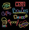 neon signs vector image vector image