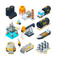 oil industry gas oil station production tanks vector image