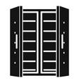 open fridge icon simple style vector image vector image