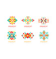 ornament design logo templates collection vector image vector image