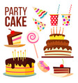 party sweet cake big celebration cake vector image