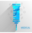 Polygonal medical syringe background concept vector image vector image