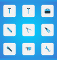 repair colorful icons set collection of ruler vector image