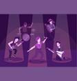 rock band performance flat vector image vector image