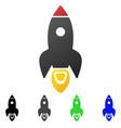 rocket start flat gradient icon vector image vector image