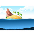 Scene with island on the ocean vector image vector image