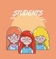 school teachers and students vector image vector image