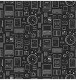Seamless Pattern Office Supplies Flat Monochrome vector image